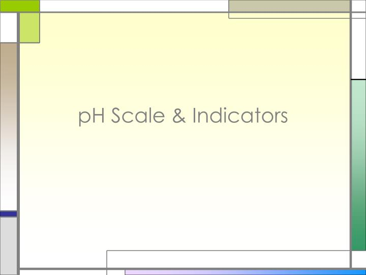 ph scale indicators n.