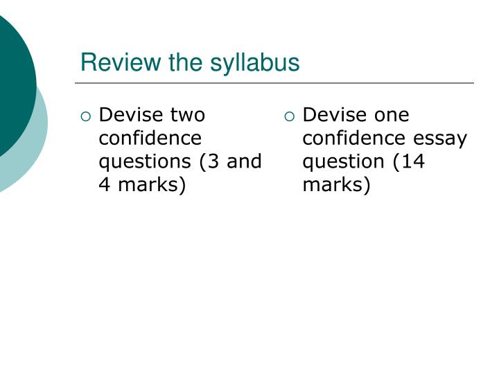 Review the syllabus