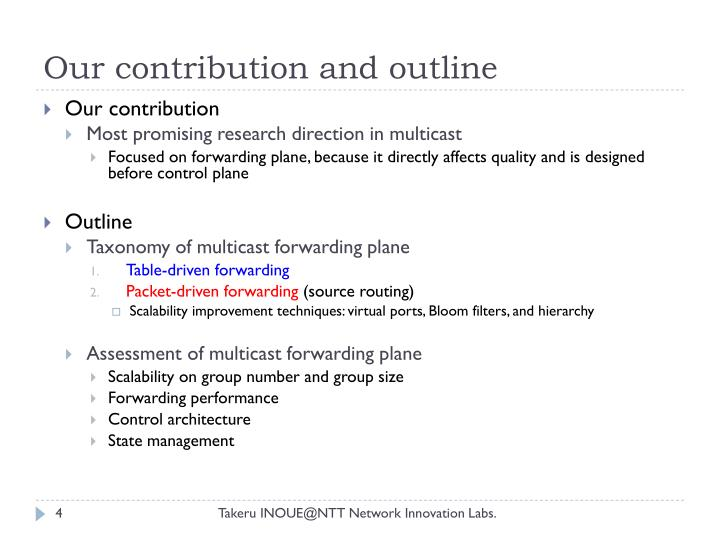 Our contribution and outline