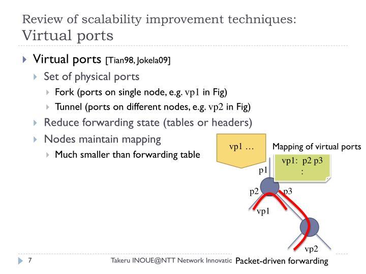 Review of scalability improvement techniques: