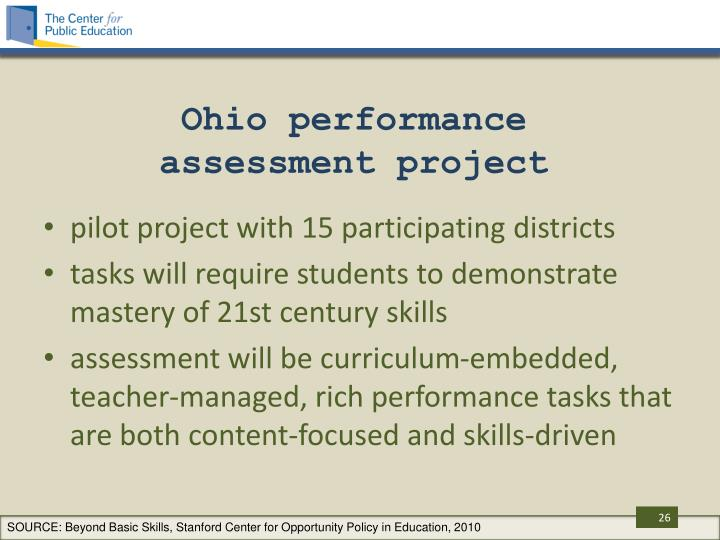 Ohio performance assessment project