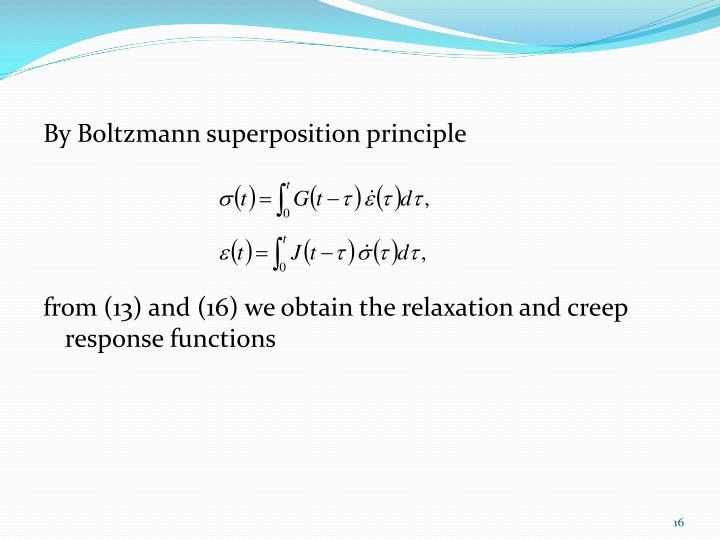 By Boltzmann superposition principle