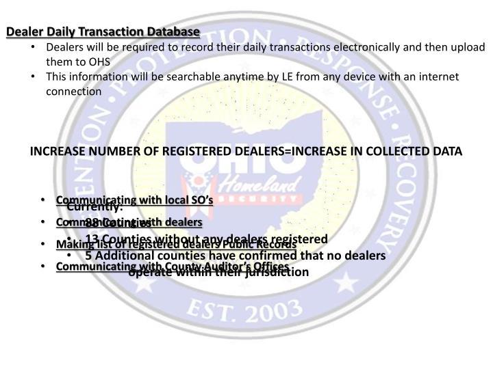 Dealer Daily Transaction Database