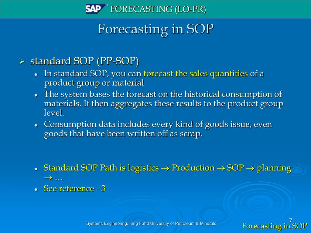 PPT - Forecasting in SAP PowerPoint Presentation - ID:5571061
