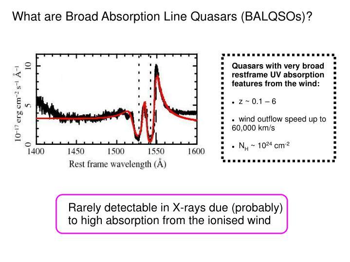 What are Broad Absorption Line Quasars (BALQSOs)?