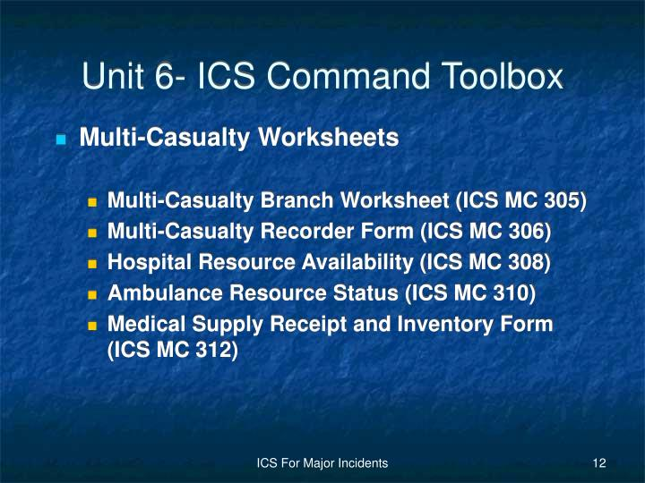 Ppt Unit 6 Ics Command Toolbox Powerpoint Presentation Id 5571097