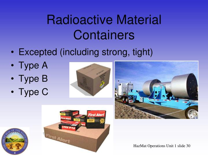 Radioactive Material Containers