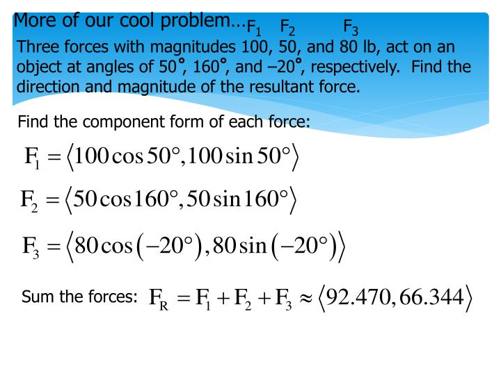 More of our cool problem…