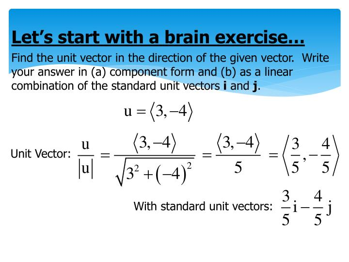 Let's start with a brain exercise…