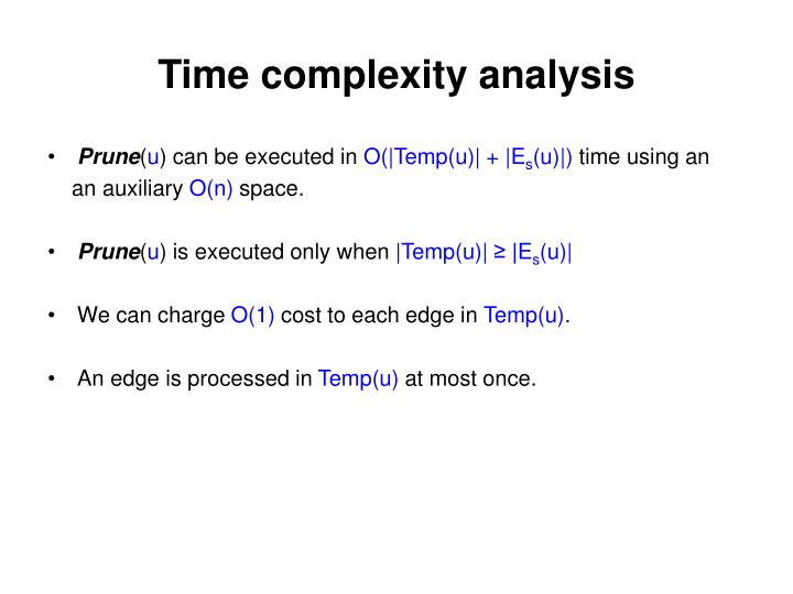 Time complexity analysis