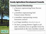 county agricultural development councils1