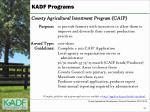 county agricultural investment program caip