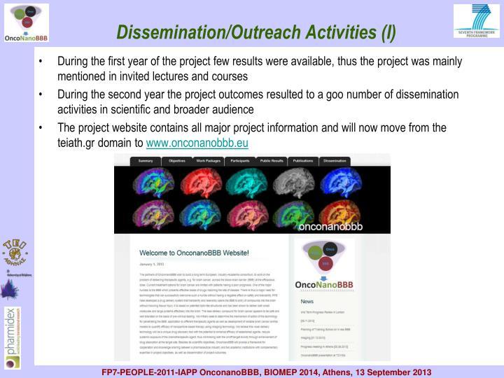 Dissemination/Outreach