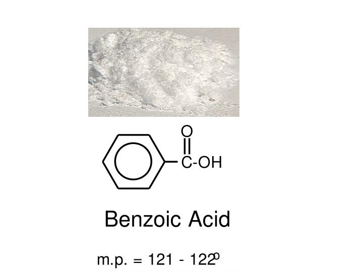 recrystallization of benzoic acid essay Purification - physical separation of impurities and by-products from an impure sample pure substance distillation- for liquid compounds, recrystallizat.