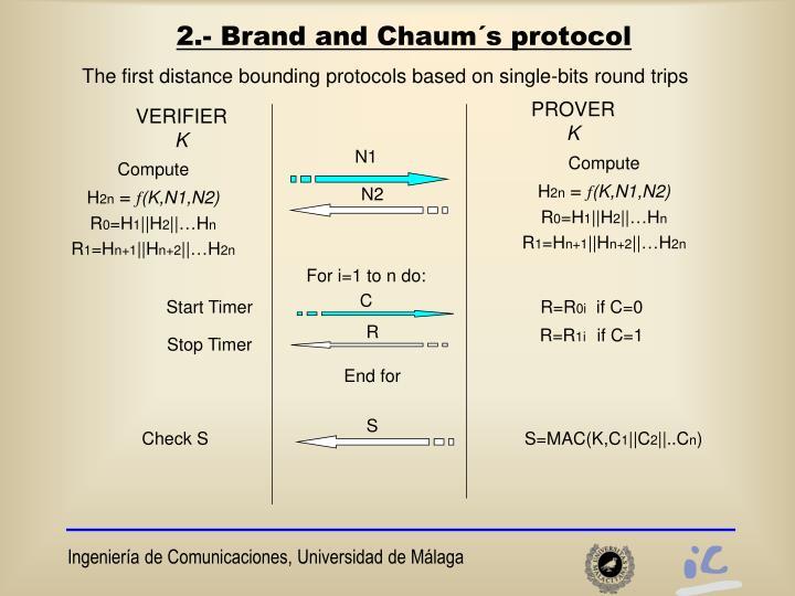 2.- Brand and Chaum´s protocol