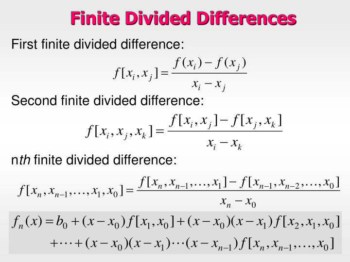Finite Divided Differences