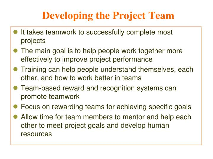 Developing the Project Team