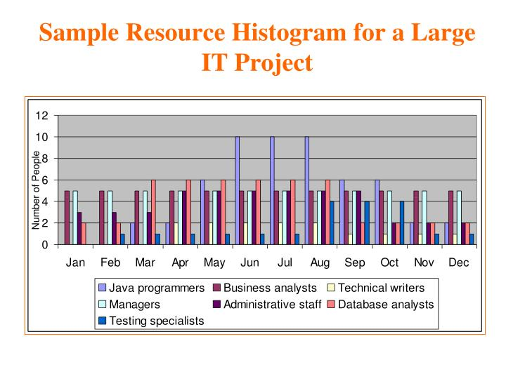 Sample Resource Histogram for a Large IT Project