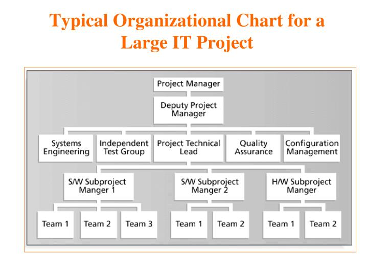 Typical Organizational Chart for a Large IT Project