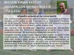wilson kirwa kertoo jalkapallon merkityksest itselleen