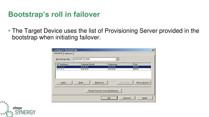 Bootstrap's roll in failover