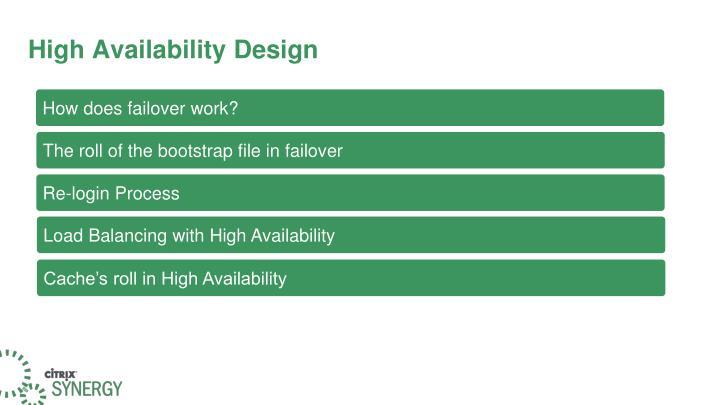 High Availability Design