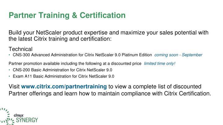 Partner Training & Certification