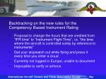 backtracking on the new rules for the competency based instrument rating