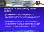 extension for third country license holders