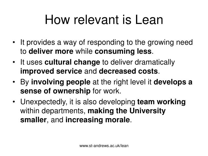 How relevant is lean