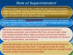 role of superintendent