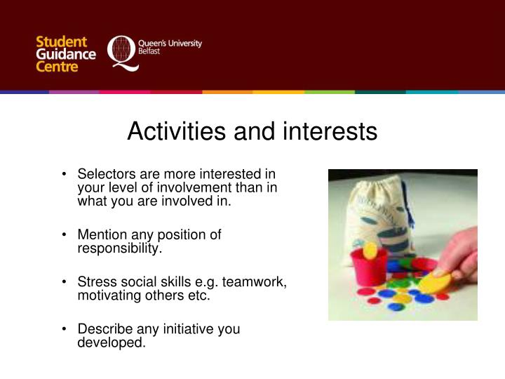 describe your involvement in activities outside of work How would you describe your career progress  what non-work goals and  priorities may influence your career decisions in what  a great resource for  those who are preparing for a specific role or are looking to  identify volunteer  events where you can work alongside co-workers outside of your immediate work -group.