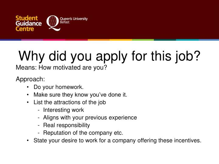 """Knowing how to answer interview questions well is always important, especially with this question. To reassure them that they are the ones you want to be with, your answer to this question should start with, """"I'm interested in this job, at this company, because """" and then list at least three reasons why you ."""