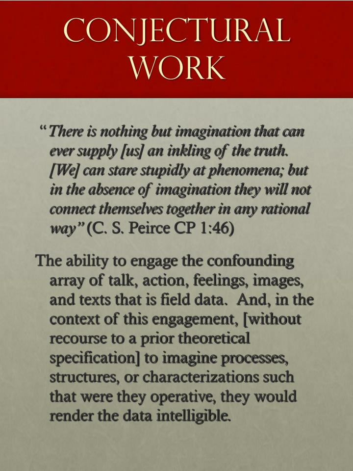 Conjectural Work