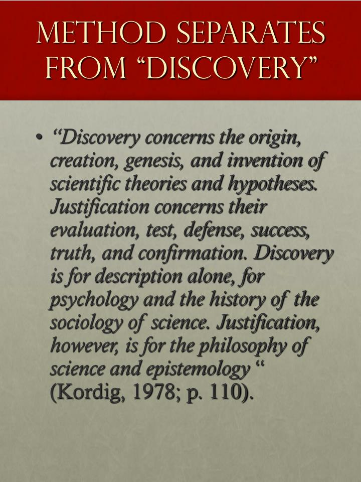 """Method Separates From """"Discovery"""""""