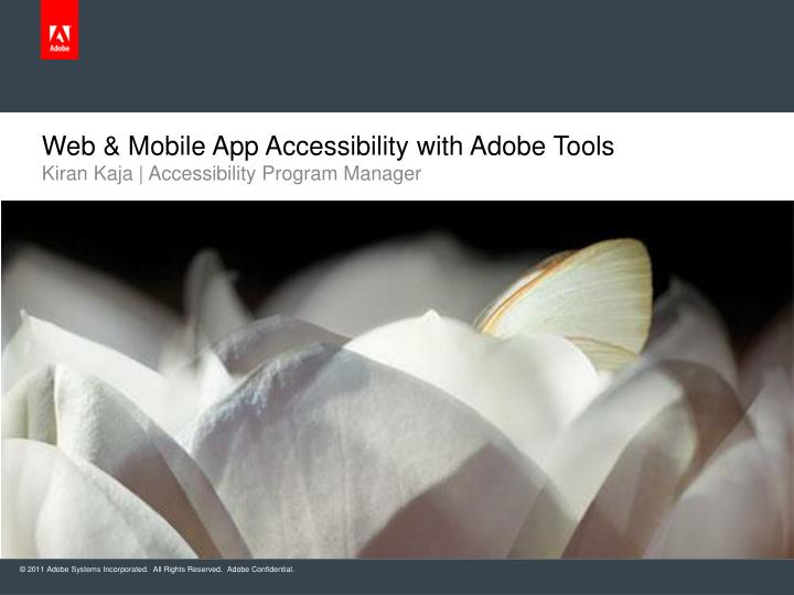 web mobile app accessibility with adobe tools n.