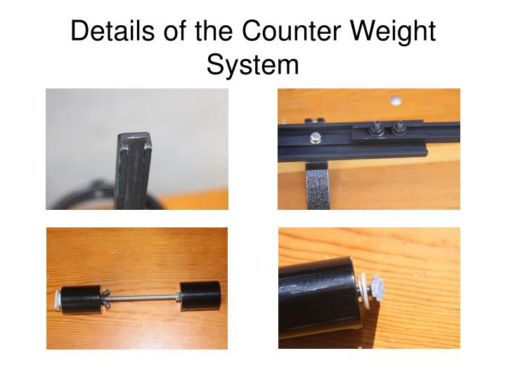 Details of the Counter Weight System