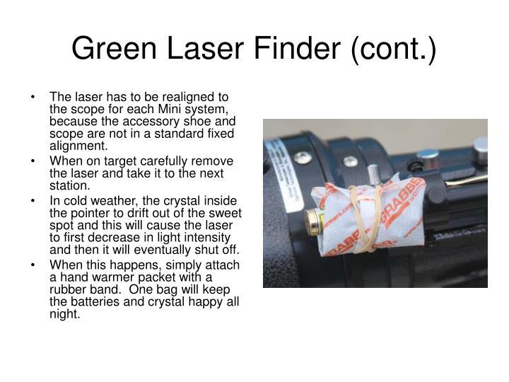 Green Laser Finder (cont.)