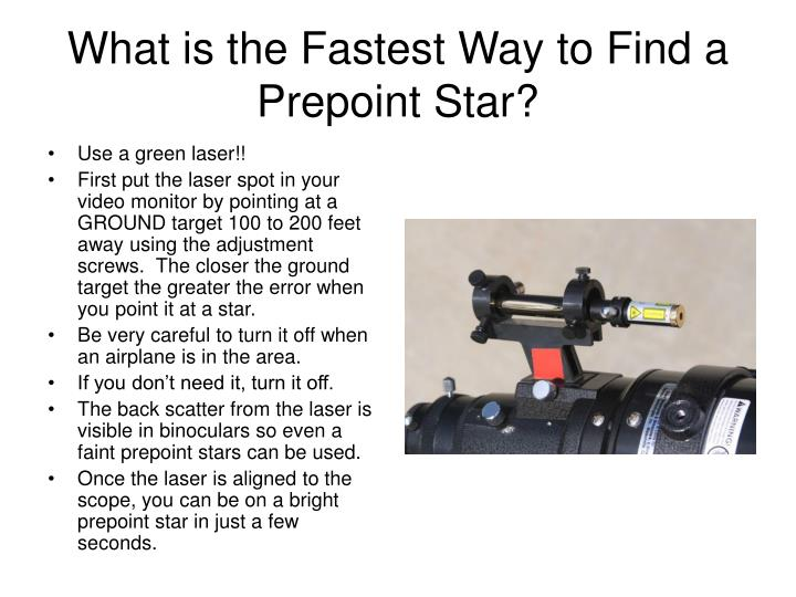 What is the Fastest Way to Find a Prepoint Star?