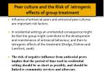 peer culture and the risk of iatrogenic effects of group treatment