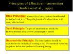 principles of effective intervention andrews et al 1990
