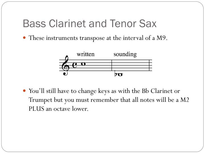 Bass Clarinet and Tenor Sax