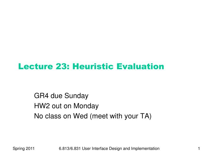 lecture 23 heuristic evaluation n.