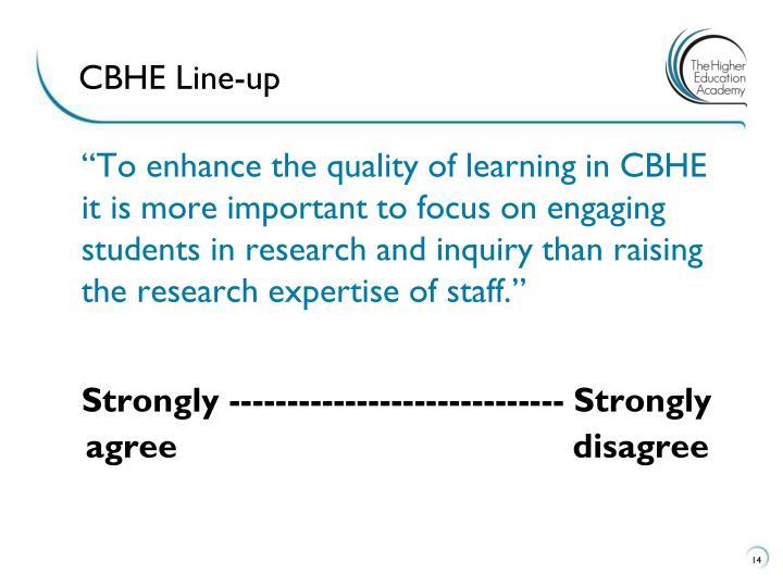 CBHE Line-up