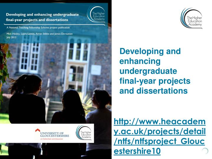 Developing and enhancing undergraduate final-year projects and dissertations