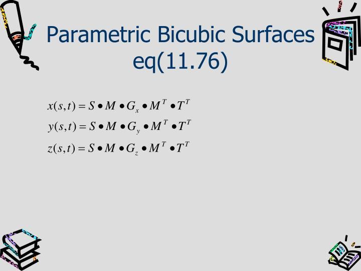 Parametric Bicubic Surfaces