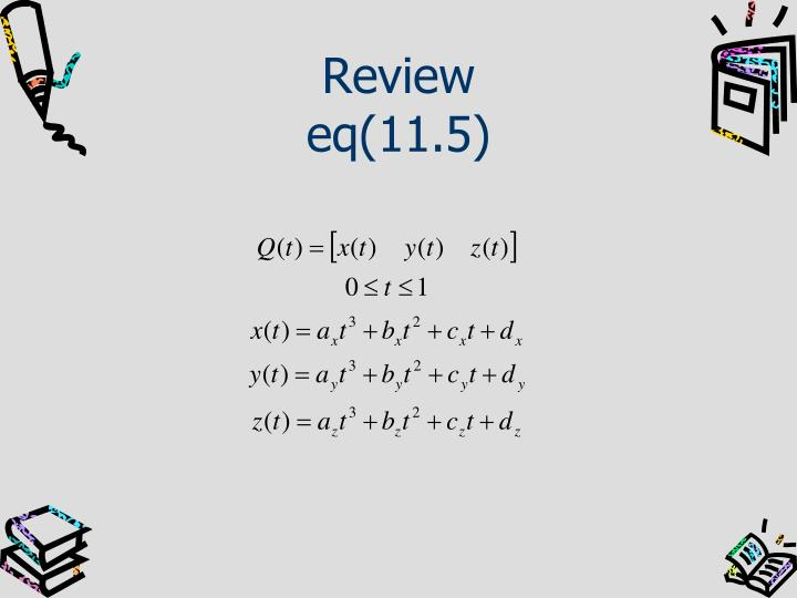 Review eq 11 5