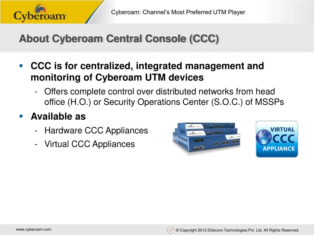 PPT - Cyberoam: Channel's Most Preferred UTM Player