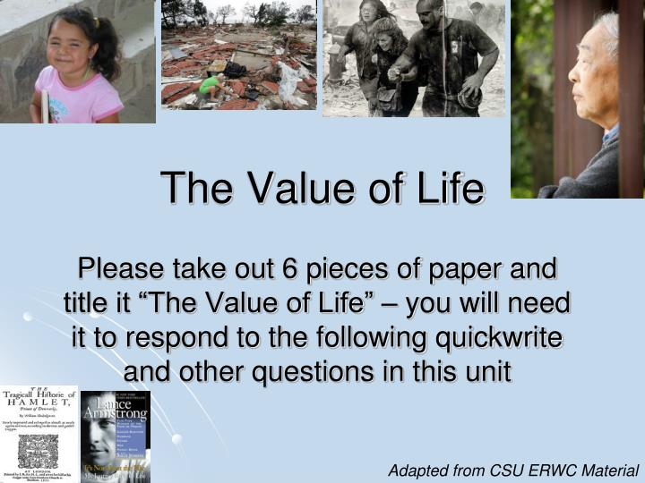 value of life essay Essays from bookrags provide great ideas for my personal values essays and paper topics like essay view this student essay about my personal values.