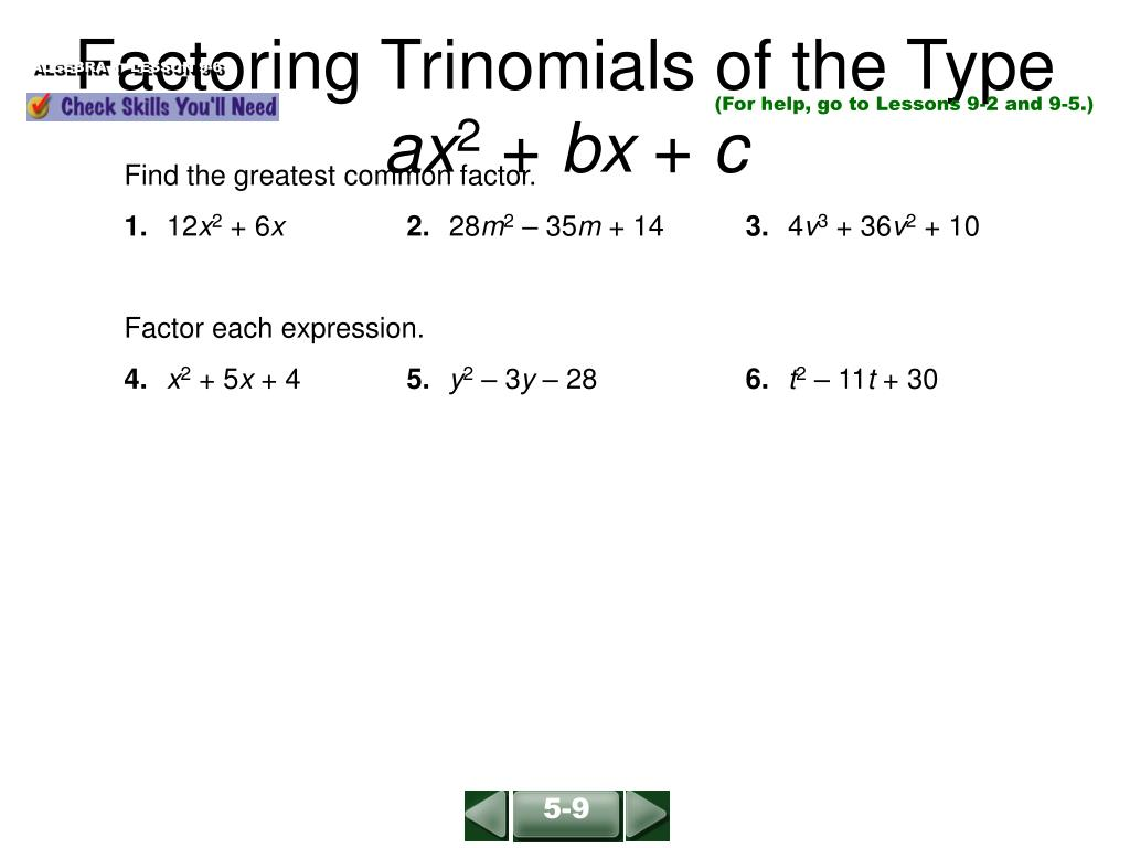 Fastest How To Factor Trinomials Of The Type Ax24+bx+c With Regard To Factoring Ax2 Bx C Worksheet